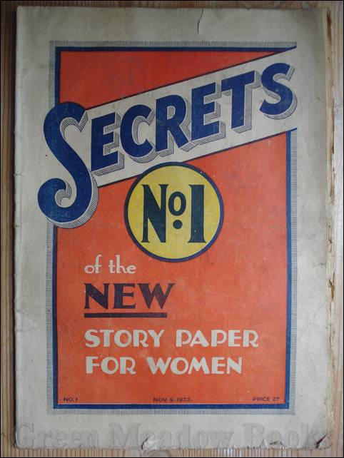 Image for SECRETS   No. 1  OF THE NEW STORY PAPER FOR WOMEN    November 5th 1932