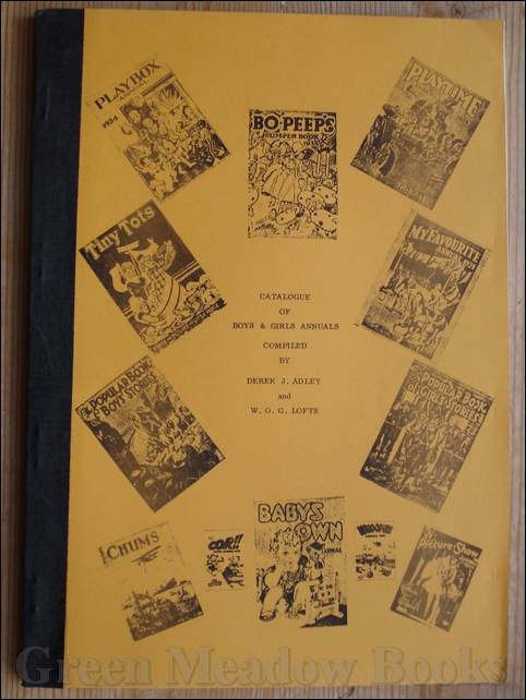Image for CATALOGUE OF BOYS & GIRLS ANNUALS