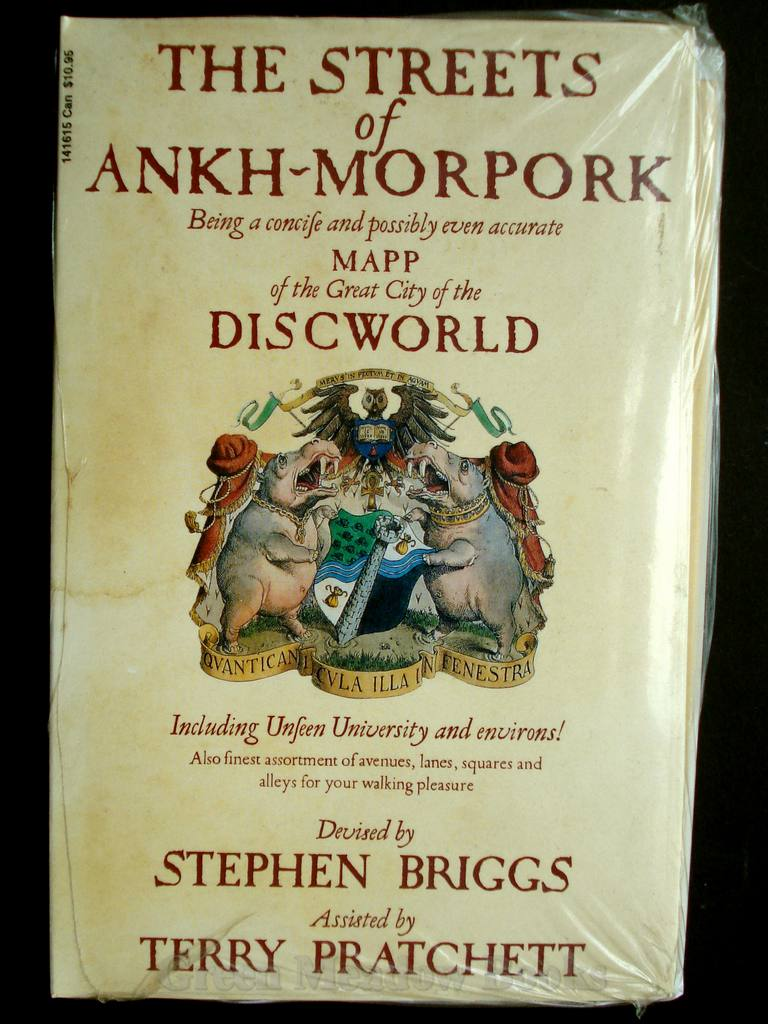 Image for THE STREETS OF ANKH-MORPORK   Being A Concise and Possibly Even Accurate MAPP of the Great City of the DISCWORLD
