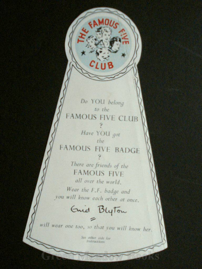Image for FAMOUS FIVE ORIGINAL SPECIAL    FAMOUS FIVE BOOKMARK