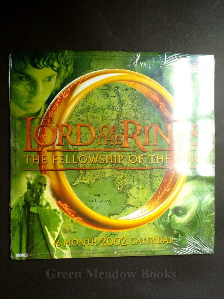 Image For TOLKIEN CALENDAR 6 MONTH 2002 THE LORD OF RINGS FELLOWSHIP