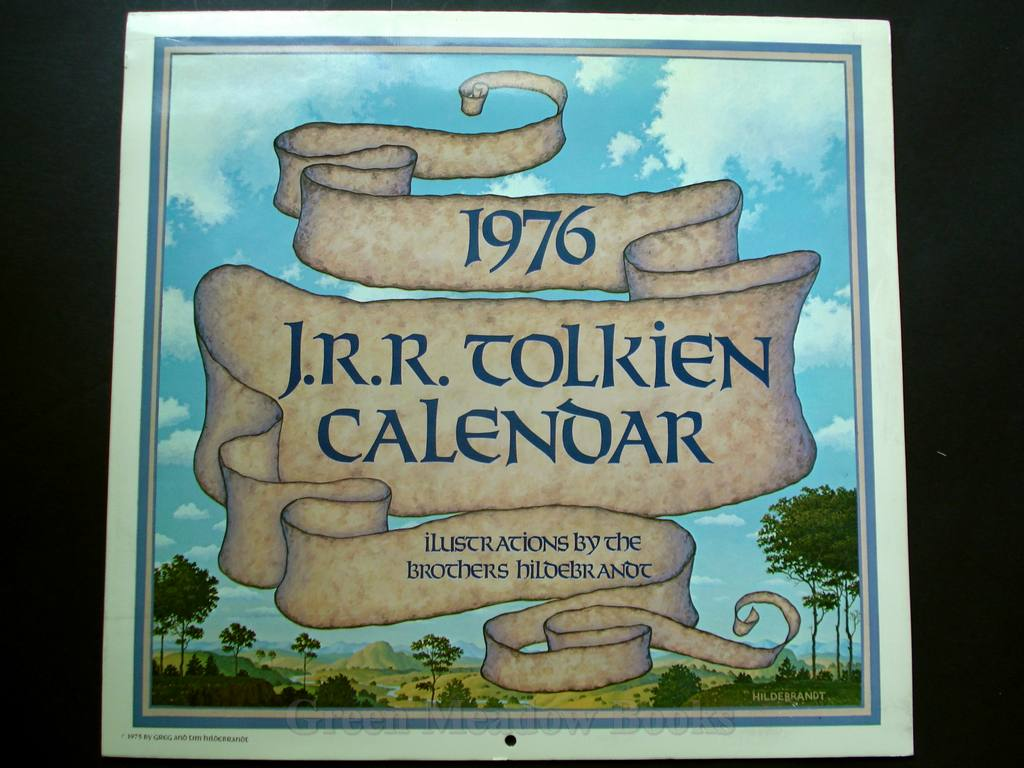 Image for THE J.R.R. TOLKIEN CALENDAR FOR 1976