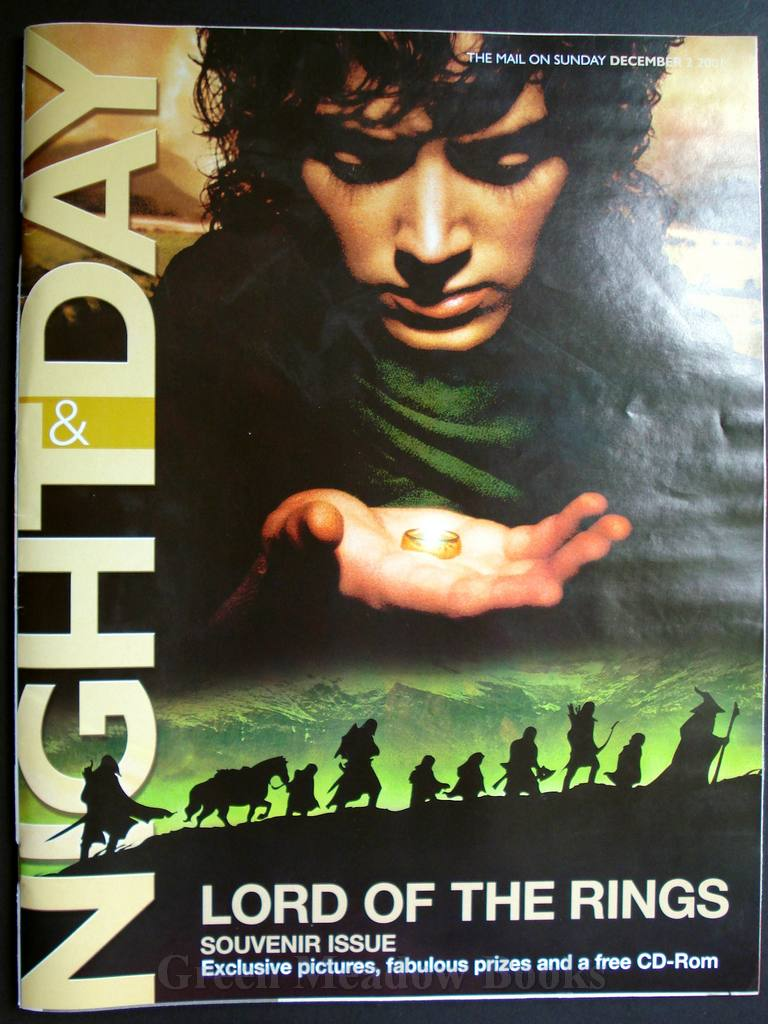 Image for LORD OF THE RINGS   - SOUVENIR ISSUE OF NIGHT & DAY