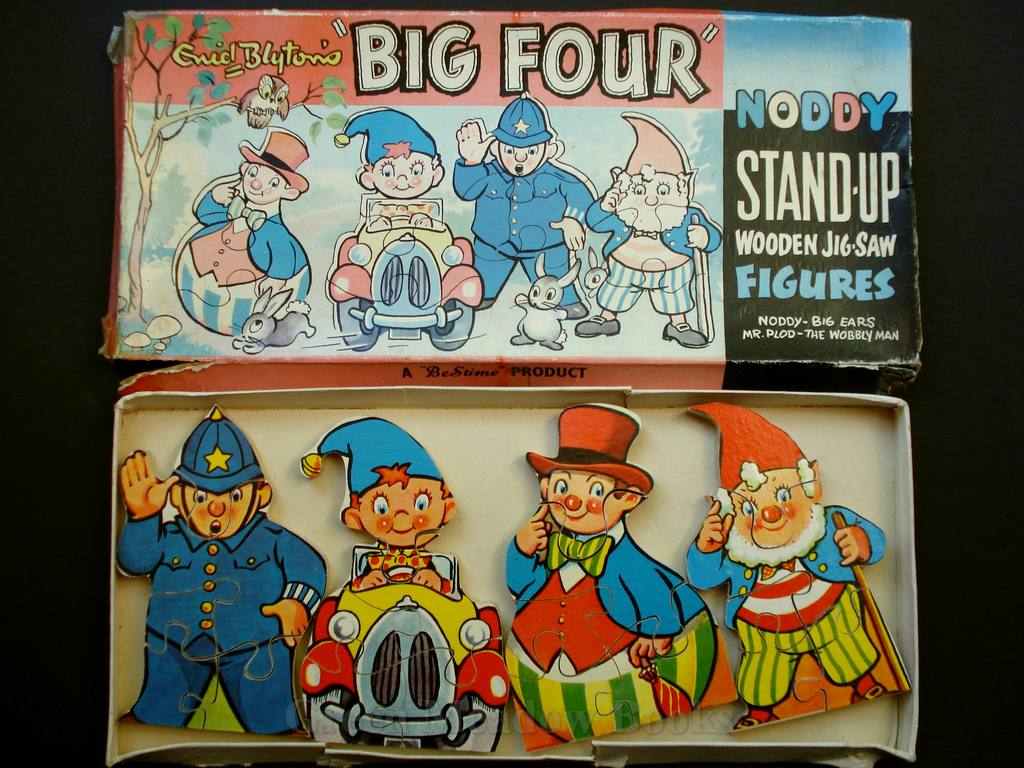 "Image for NODDY JIGSAWS: ENID BLYTON'S ""BIG FOUR"" STAND UP WOODEN JIGSAW FIGURES"