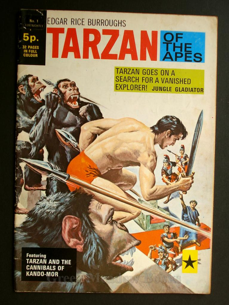Image for EDGAR RICE BURROUGHS  TARZAN OF THE APES   No. 1!  TARZAN GOES ON A SEARCH FOR A VANISHED EXPLORER!  JUNGLE GLADIATOR