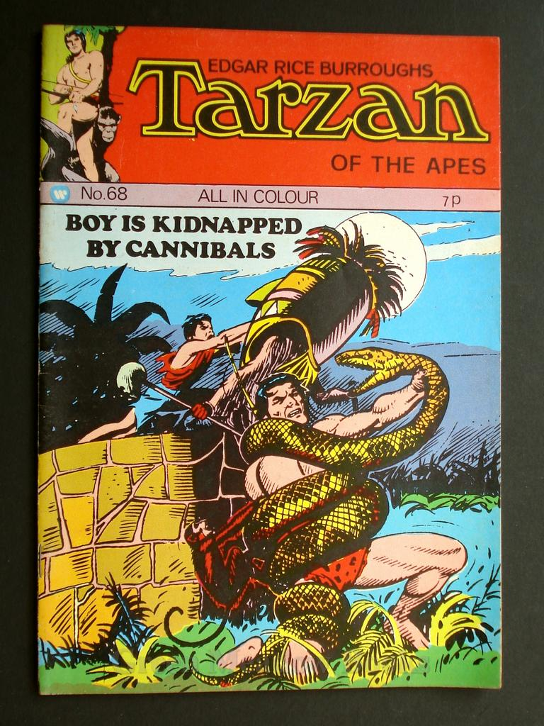 Image for EDGAR RICE BURROUGHS  TARZAN OF THE APES   No. 68.  BOY IS KIDNAPPED BY CANNIBALS!