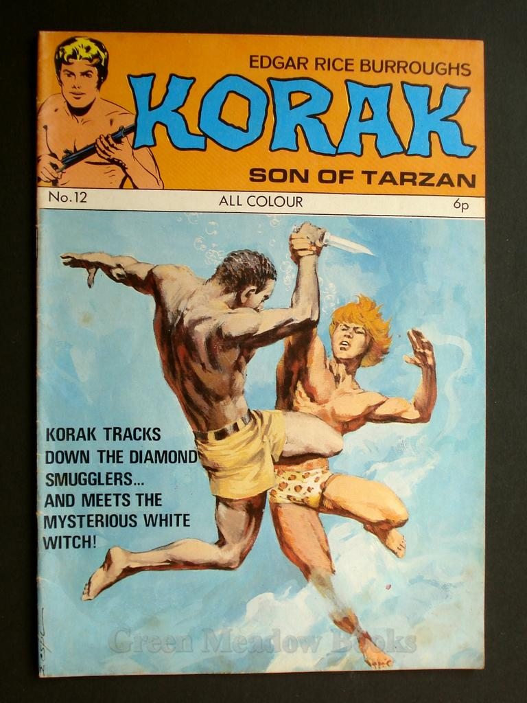 Image for EDGAR RICE BURROUGHS   KORAK  SON OF TARZAN  No. 12  KORAK TRACKS DOWN THE DIAMOND SMUGGLERS.... AND MEETS THE MYSTERIOUS WHITE WITCH!