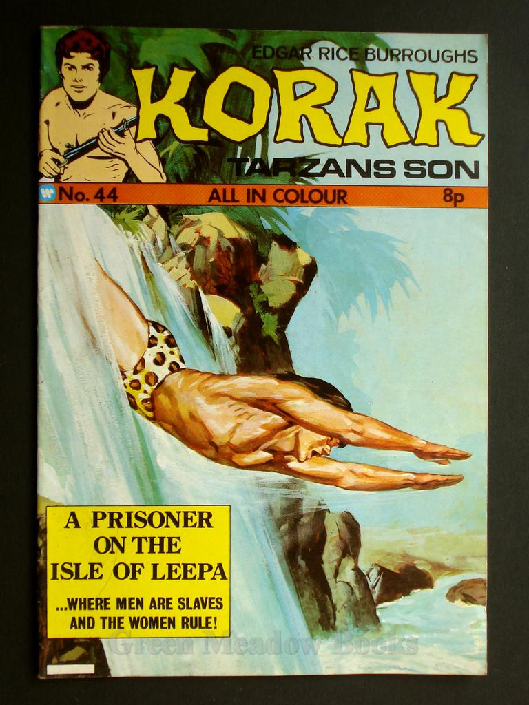 Image for EDGAR RICE BURROUGHS   KORAK  SON OF TARZAN  No.44   A PRISONER ON THE ISLE OF LEEPA   ... WHERE MEN ARE SLAVES AND THE WOMEN RULE!