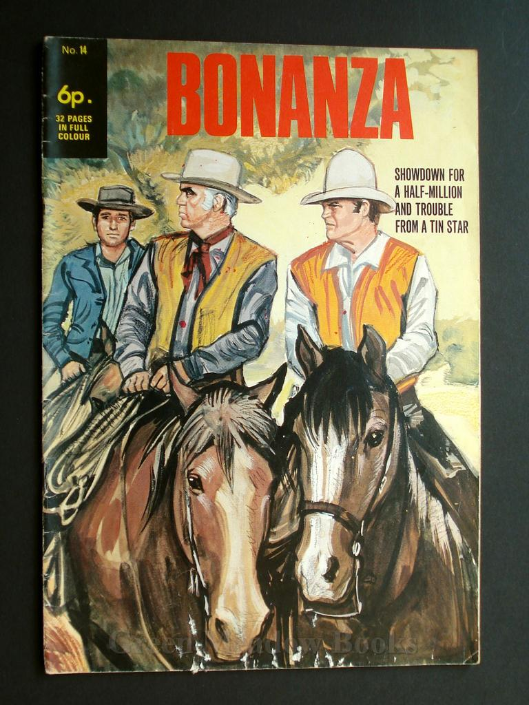 Image for BONANZA   SHOWDOWN FOR A HALF-MILLION  AND  TROUBLE FROM A TIN STAR