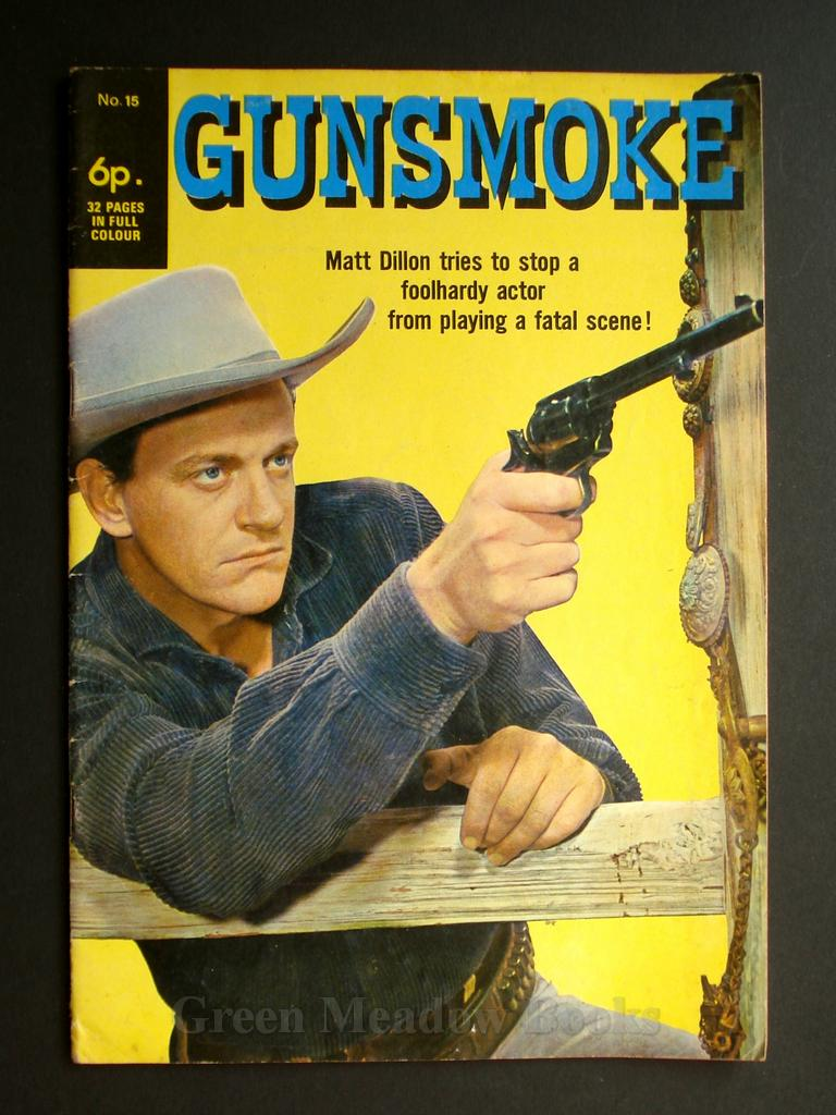 Image for GUNSMOKE  MATT DILLON TRIES TO STOP A FOOLHARDY ACTOR FROM PLAYING A FATAL SCENE!