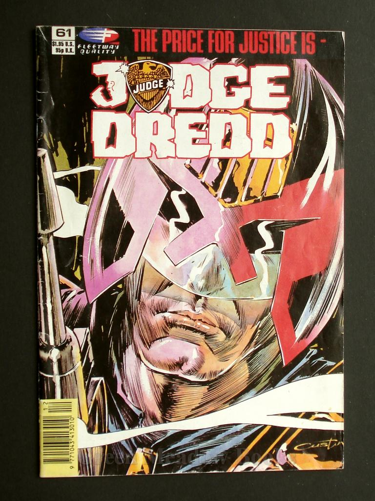 Image for JUDGE DREDD! No. 61 THE PRICE FOR JUSTICE IS - JUDGE DREDD    PORTRAIT OF A POLITICIAN;  THE SWEET TASTE OF JUSTICE