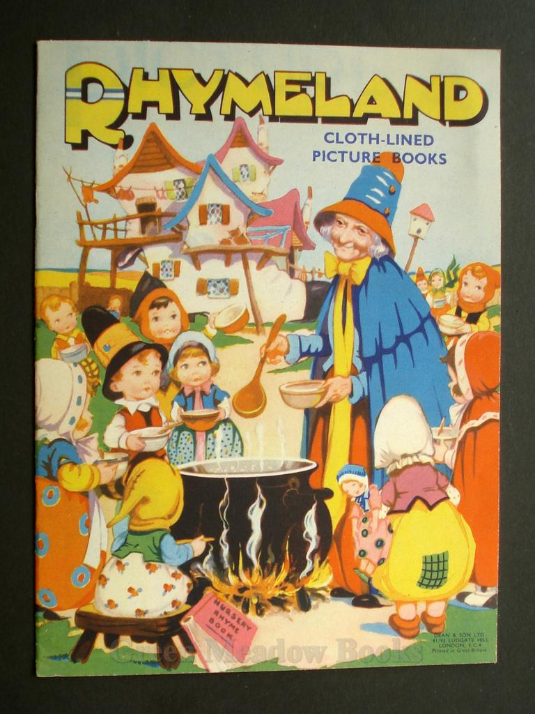 Image for RHYMELAND   CLOTH-LINED PICTURE BOOKS