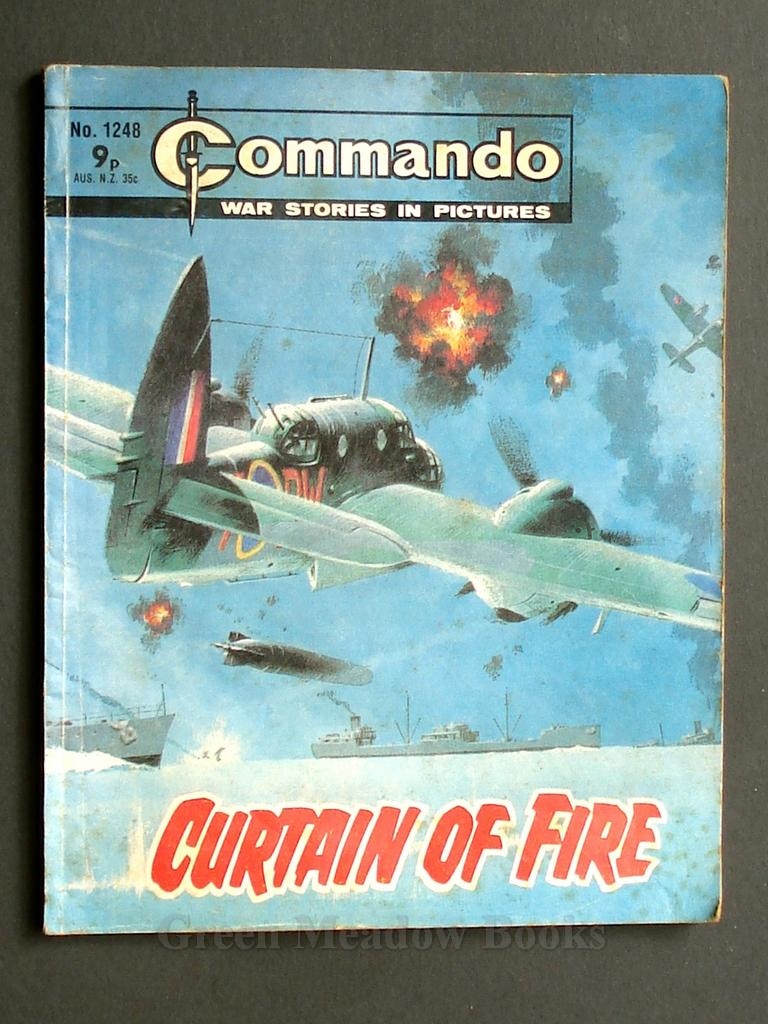 Image for COMMANDO  WAR STORIES IN PICTURES  CURTAIN OF FIRE  No. 1248