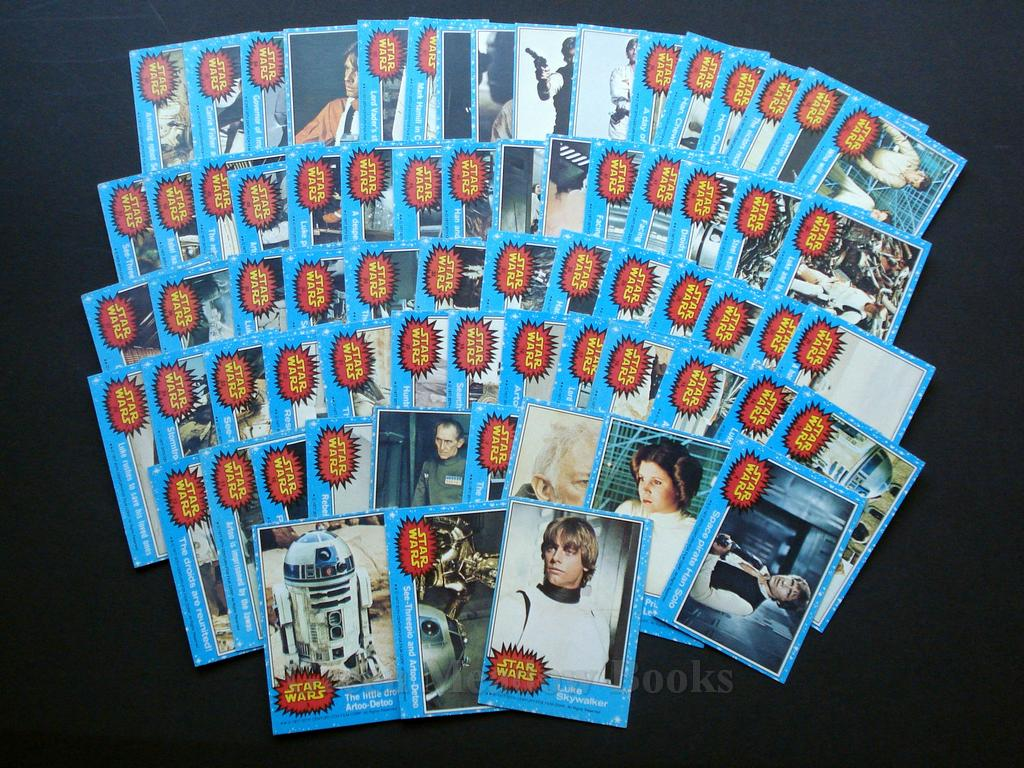 Image for TOPPS SERIES 1  STAR WARS TRADING CARDS!   1977  COMPLETE FIRST SET