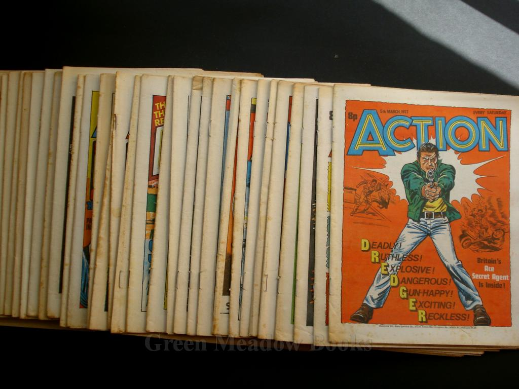 Image for ACTION!  COMPLETE RUN FROM ISSUE 3   28/2/1976  TO  12/11/77