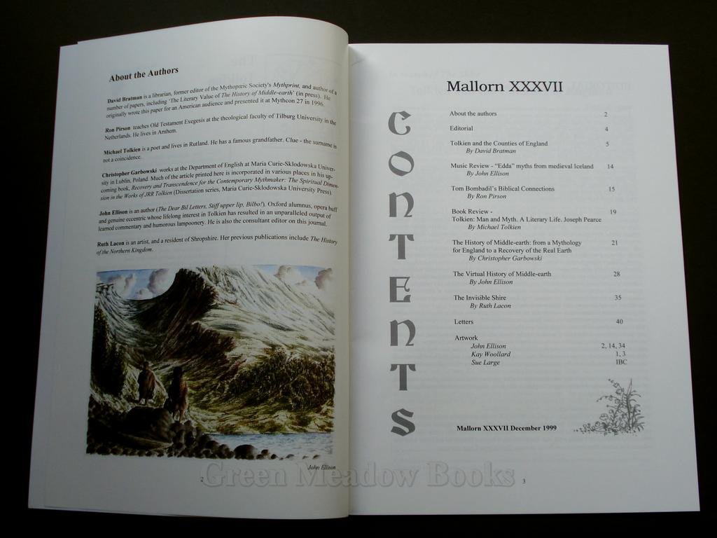 Image for MALLORN  37   DECEMBER 1999  THE JOURNAL OF THE TOLKIEN SOCIETY