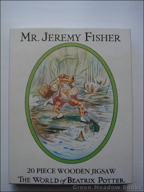 Image for MR JEREMY FISHER     TWENTY PIECE WOODEN JIGSAW.