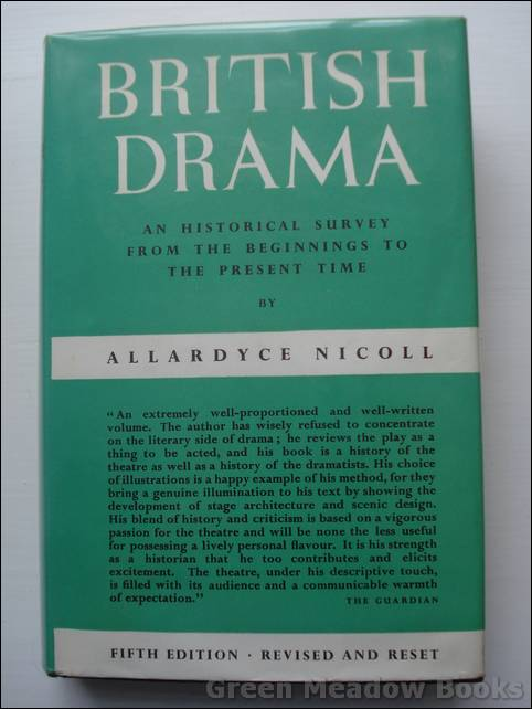 Image for BRITISH DRAMA   An Historical Survey From The Beginnings To The Present Time