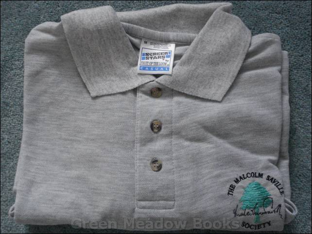 Image for GREY SHIRT With Pine Logo, Malcolm Saville Society, and Facsimile Signature Embroidered on front