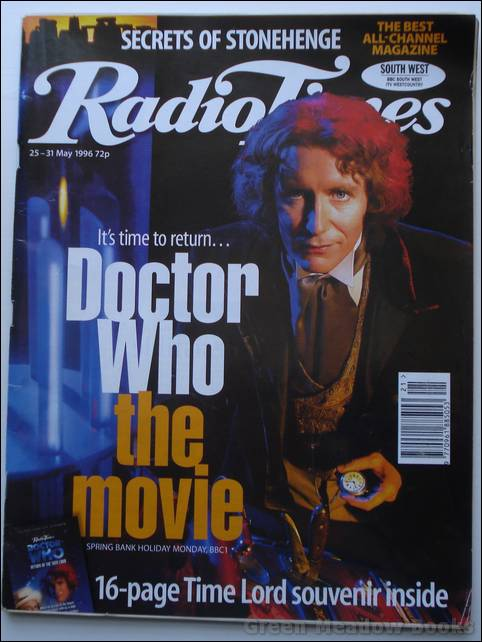 Image for DOCTOR WHO: RADIO TIMES containing 16pp TIME LORD SOUVENIR CELEBRATING DOCTOR WHO THE MOVIE with PAUL MCGANN