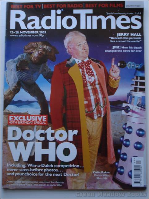 Image for DOCTOR WHO: RADIO TIMES containing 16pp 40th ANNIVERSARY SPECIAL DOCTOR WHO SOUVENIR     CE-LE-BRATE SAYS THE DALEK