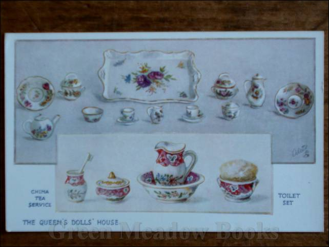 Image for QUEEN'S DOLLS' HOUSE POSTCARD   TEA SERVICE & TOILET SET