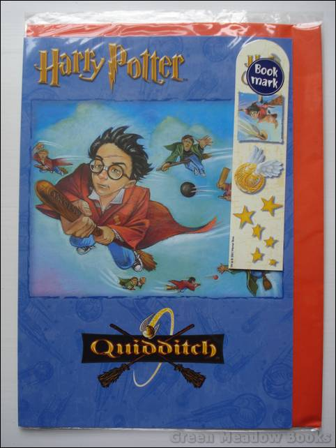 Image for HARRY POTTER GREETING CARDS WITH NOVELTY  BOOK MARK