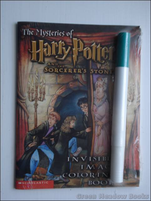 Image for THE MYSTERIES OF HARRY POTTER AND THE SORCERER'S STONE INVISIBLE IMAGE COLOURING BOOK