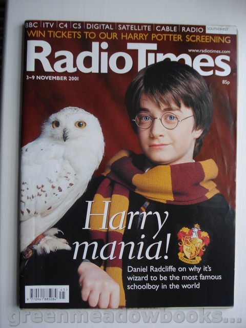 Image for HARRY POTTER COVER AND DANIEL RADCLIFFE FEATURE in RADIO TIMES