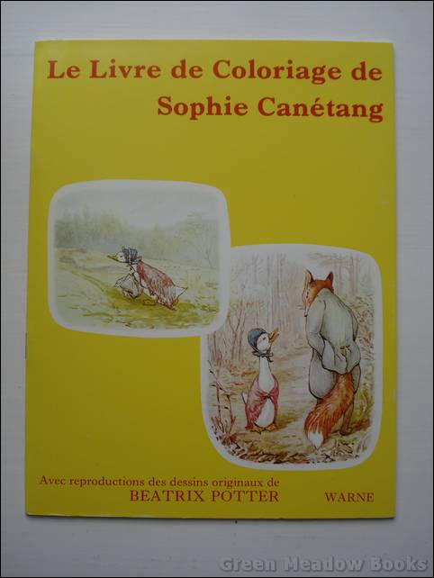 Image for FRENCH LANGUAGE: LE LIVRE DE COLORIAGE DE SOPHIE CANETANG (Jemima Puddleduck)