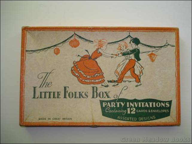 Image for THE LITTLE FOLKS BOX OF PARTY INVITATIONS containing original PARTY INVITATION