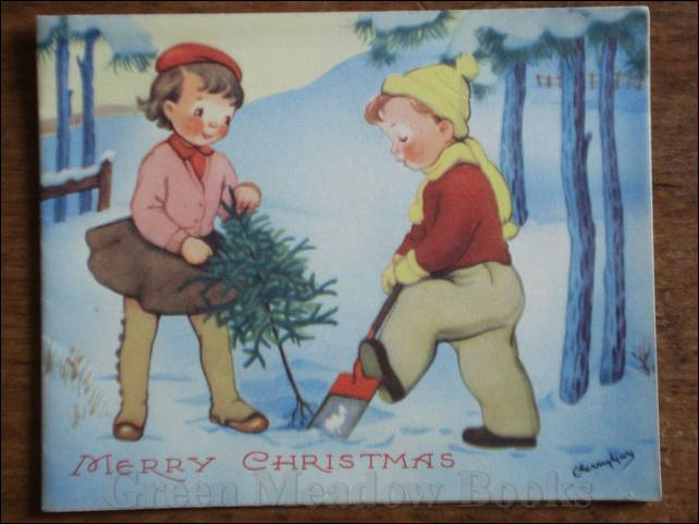 Image for TWO ATTWELL-ESQUE TINIES DIGGING UP THEIR TINY XMAS TREE (WITH ROOTS!) AMID THE SNOW