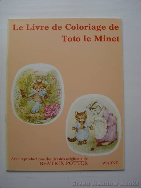 Image for FRENCH LANGUAGE: LE LIVRE DE COLORIAGE DE TOTO LE MINET (Tom Kitten)